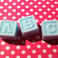 9 Edible TOY ABC NAME BLOCKS Baby Shower Christening Cupcake Toppers Decorations