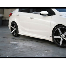 Side Lip Skirt Body Kit UNPAINTED Left Right For 12 13 14 Kia Forte K3