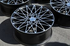 17X7.5 AodHan LS001 Rims 5X112 +35 Black Wheels Fits VW Jetta Gti golf (Used)
