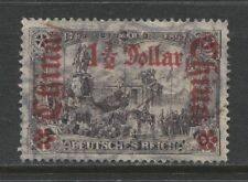 1912 German offices in CHINA  1½ Dollar issue  used - € 150.00