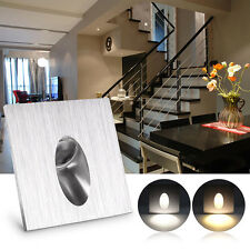 Square LED Light Recessed Porch Pathway Step Stair Wall Walkway Basement Lamp 1W