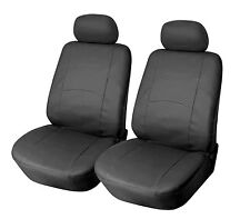 Leather like Two Front Car Seat Covers For Chevrolet - 159 Black