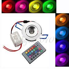 RGB Einbaustrahler Einbauleuchte Decken 3W 1LED Lampe 85~265V+RC Fernbedienung