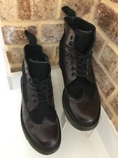 "Dr Martens Rare Brogue Wingtip Ankle Boots Brown Black ""Matias"" Uk Size 6 EU39"