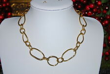 BEAUTIFUL JOAN RIVERS RUNWAY BOLD GOLD TONED METAL LARGE OVAL LINKS NECKLACE
