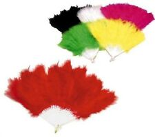 12 PC FLUFFY FEATHER HAND FANS stage costume party  fun