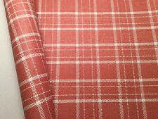 SCHUMACHER Tambi Coral Plaid Paperweave Hand Crafted Wallpaper -Not Grasscloth!