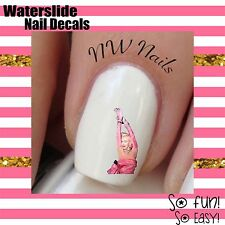 30 Nail Art Waterslide Decals Marilyn Monroe Pink Dress *Salon Quality