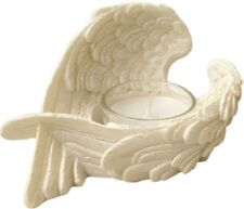 Angel Wings Tea Light Candle Holder - White Resin Wing Home Decoration Gift