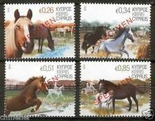 CYPRUS 2012 HORSES ISSUE STAMPS opt. SPECIMEN MNH