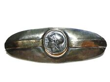 NEW OLD STOCK A. LEONDARAKIS GREECE GREEK COIN STERLING SILVER 14K GOLD BROOCH