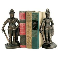 Cast Iron Bookends in shape of Medieval Knight sculptures