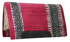 "CUTTER style SADDLE PAD 36"" x 34"" 100% WOOL Top with KODEL FLEECE Bottom"