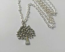 "A Tree of Life (27*22mm) Tibetan Silver Charm Pendant, Long 30"" Chain Necklace"