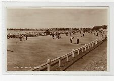 PUTTING GREEN, TROON: Ayrshire postcard (C1954).