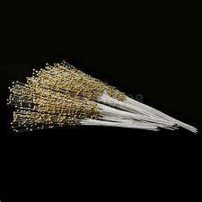 100 Beads Spray Display Flowers bouquet Wire Stems Wedding Decorations Gold