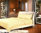2-3 Piece Solid Bright Yellow Duvet Cover and Pillowcases Set