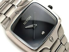 Authentic Men's Nixon The Player Antique Silver Diamond Watch. NWT, RRP $399.99.