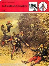 FICHE la Bataille de Coulmiers 1870 Napoléon III/ Gambetta/ Freycinet FRANCE 80s