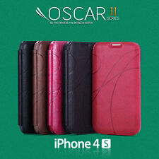 OSCAR  Flip Case Cover For iPhone 4 4S 4th Gen + Screen Guard