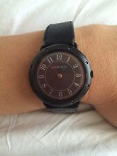 Vintage Tiffany & Co Watch Black Leather Wrist Band - needs new battery