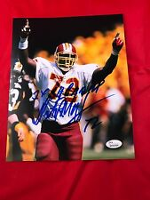 Dexter Manley  Signed Auto Redskins 8x10  w/Inscription JSA Witness