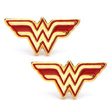 DC Comics Stainless Steel Post with Wonder Woman Logo Stud Earrings NIB