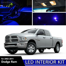 11PCS Extra Blue Interior LED Bulbs for 2002 - 2011 Dodge Ram 1500 2500 3500
