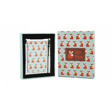 RETRO MR FOX SMALL NOTEPAD & PEN COMPACT MIRROR METAL BRAND NEW GREAT GIFT