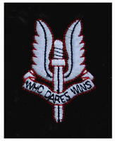 NEW EMBROIDERED SAS SPECIAL AIR SERVICE SEW ON BADGE PATCH,WHO DARES WINS,WINGS