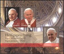 Austria 2014 Pope John Paul II/Francis/Popes/Papal/Religion/People m/s (at1046g)