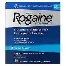 Rogaine Men's Extra Strength Hair Regrowth Treatment Solution 3 Month Supply NEW