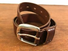 Men's Fossil Genuine Leather Belt with Heavy Duty Buckle (Medium)