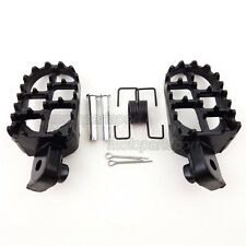 Aluminium Foot Pegs Footrest Black For Yamaha PW 50 80 PW50 PW80 TW200 Dirt Bike