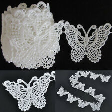 """36"""" Vintage Wedding Bridal Butterfly Lace Edge Trim Ribbon Applique Sewing Craft"""