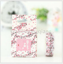 Romantic cherry DIY paper Sticky Adhesive Sticker Decorative Washi Tape