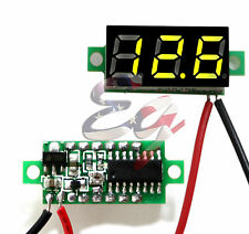 Green DC 0-30V 2 Wire LED Display Digital Voltage Voltmeter Panel Car Motorcycle