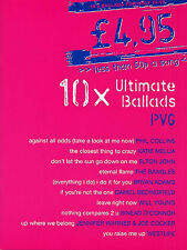 Ultimate Ballads Learn to PLAY Love Songs ROCK Pop Piano Guitar PVG Music Book