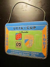 111214 Wimpel DDR Fußball FC Carl Zeiss Jena ca 21 cm lang