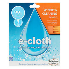 e-cloth Window and Glass Cleaning Polishing Pack - 2 Cloths - FREE P&P
