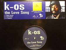 "K-OS - THE LOVE SONG (12"")  2004!!!  RARE!!!  JOYFUL REBELLION!!!  ♫"