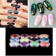 12 Colors Nail Art Iced Mylar Glitter Powder Acrylic UV Gel Tips Decoration