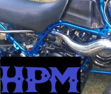 "HPM Banshee Dual Core ""Shiney Blue"" High Temp Exhaust Clamps BLUE"
