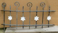 """Antique Wrought Iron WINDOW GATE Guard-Architectural Salvage 31½"""""""