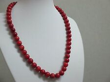 45.gr.Natural Victorian Salmon Coral Necklace Red Round BeadsUltra Rare Antique.