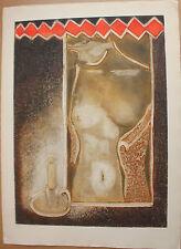 Gravure originale de Marcel FIORINI signée numérotée Bissière Louttre B. femme