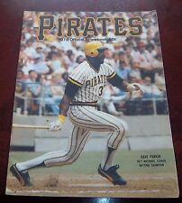 Pittsburgh Pirates Official Score Book 1978 vs Montreal Expos  Dave Parker