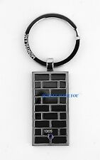 MONTBLANC UNICEF STAINLESS STEEL BLUE SAPPHIRE KEY RING 109402 NEW GERMANY