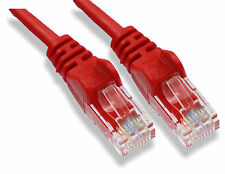 15m Rojo Cable De Red Lan Rj45 parche Plomo Cat 5 Ethernet 15 Metro Internet Plomo
