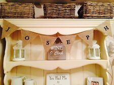 Boys Girls Personalised Shabby Chic Den Playhouse Hessian Bunting £1 per Flag